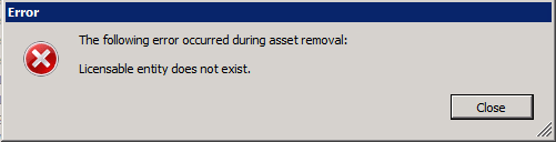 unable to remove a license key from vcenter server appliance 6.5